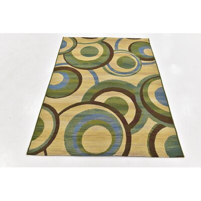 Skylar Beige Indoor/ Outdoor Area Rug Rug Size: 2 x 6