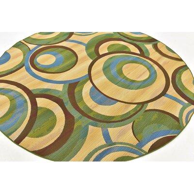 Skylar Beige Indoor/ Outdoor Area Rug Rug Size: Round 8