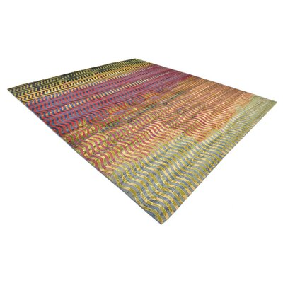 Skylar Green/Beige Indoor/Outdoor Area Rug Rug Size: Rectangle 2 x 6