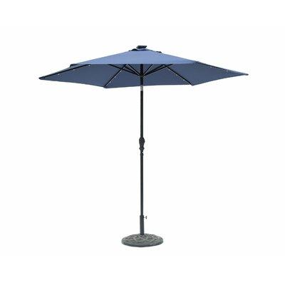 Lindsey 8.10 Solar Lighted Illuminated Umbrella Color: Navy Blue