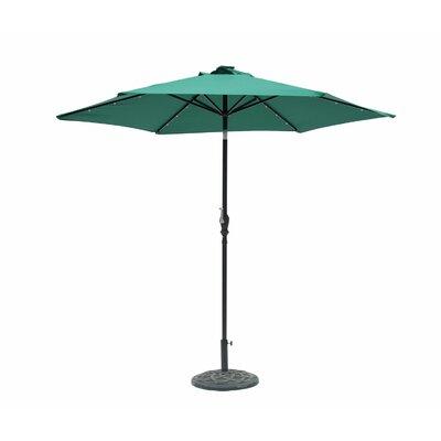 Lindsey 8.10 Solar Lighted Illuminated Umbrella Color: Hunter Green