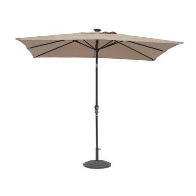 Kamila 7 x 9 Solar Lighted Rectangular Illuminated Umbrella