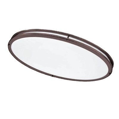 Kareem 1-Light Flush Mount Finish: Bronze