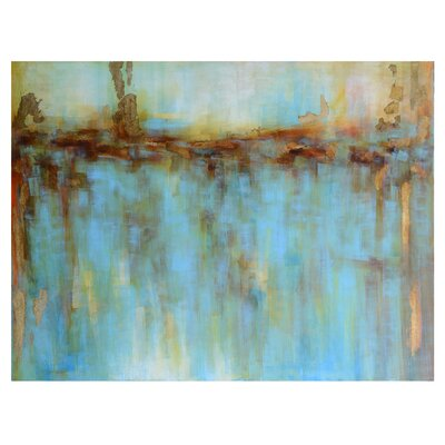 'Golden Reflection' Painting on Canvas