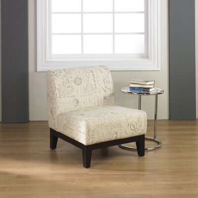Douglas Fabric Slipper Chair Color: Script