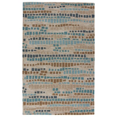 Brighton Hand-Tufted Ombre Blue/Blue Nights Area Rug Rug Size: 5 x 8