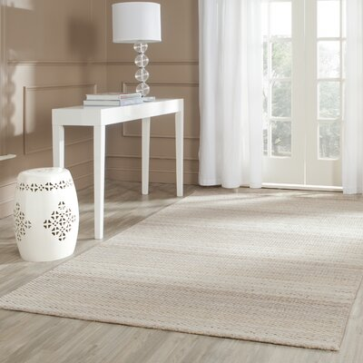 Keith Beige Stripes Area Rug Rug Size: Rectangle 5 x 8