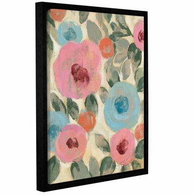 'Parisian Floral II' by Silvia Vassileva Framed Painting Print Size: 24
