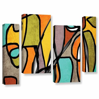 Vibrant Colorful Abstract 11 4 Piece Graphic Art on Wrapped Canvas Set Size: 24