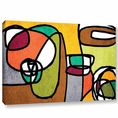 Vibrant Colorful Abstract 8 Framed Graphic Art Size: 14