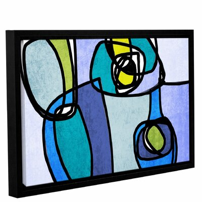 Vibrant Colorful Abstract 5 Framed Graphic Art Size: 14