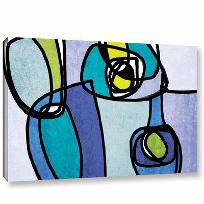 Vibrant Colorful Abstract 5 Graphic Art on Wrapped Canvas Size: 14