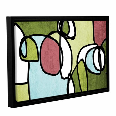 Vibrant Colorful Abstract 2 Framed Graphic Art Size: 14
