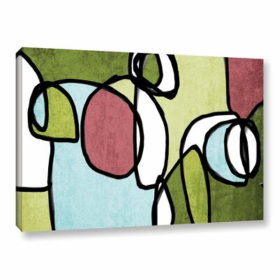 Vibrant Colorful Abstract 2 Graphic Art on Wrapped Canvas Size: 14