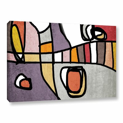 Vibrant Colorful Abstract 3-1 Graphic Art on Wrapped Canvas Size: 14