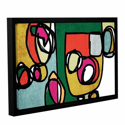 Vibrant Colorful Abstract 4 Framed Graphic Art Size: 14