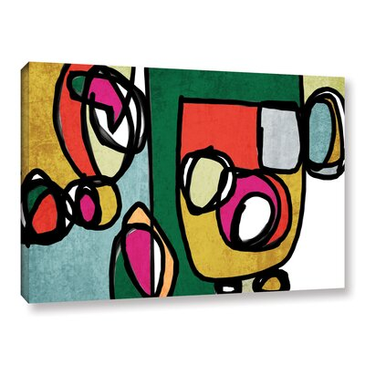 Vibrant Colorful Abstract 4 Graphic Art on Wrapped Canvas Size: 14