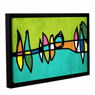 Vibrant Colorful Abstract 1 Framed Graphic Art Size: 14