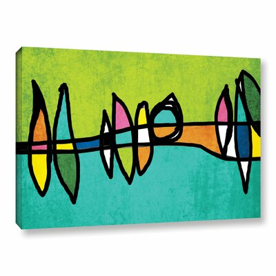 Vibrant Colorful Abstract 1 Painting Print on Wrapped Canvas Size: 14