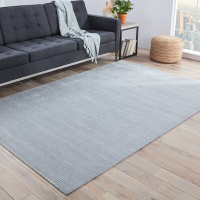 Nico Hand Loomed Glacier Gray/Paloma Indoor Area Rug Rug Size: Rectangle 8 x 10