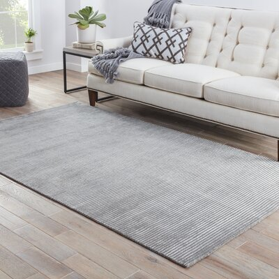 Melbourne Hand-Woven Gray Area Rug Rug Size: 2 x 3