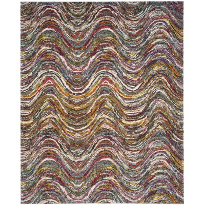 Gleno Red Area Rug Rug Size: 8 x 10