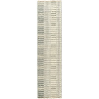 Apple Creek Hand-Knotted Gray Area Rug Rug Size: Runner 2 x 8