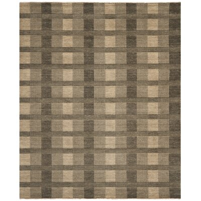 Apple Creek Hand-Knotted Charcoal Area Rug Rug Size: Rectangle 8 x 10