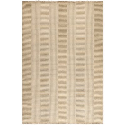 Apple Creek Hand-Knotted Beige Area Rug Rug Size: Rectangle 5 x 8