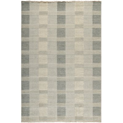 Apple Creek Hand-Knotted Gray Area Rug Rug Size: 5 x 8