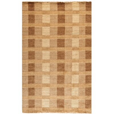 Apple Creek Hand-Knotted Brown Area Rug Rug Size: 5 x 8