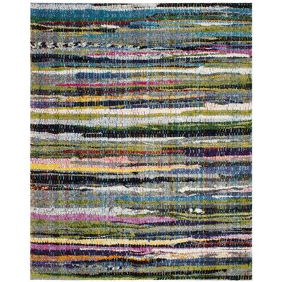 Gleno Green/Blue Area Rug Rug Size: Runner 23 x 6