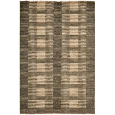 Apple Creek Hand-Knotted Charcoal Area Rug Rug Size: Rectangle 5 x 8