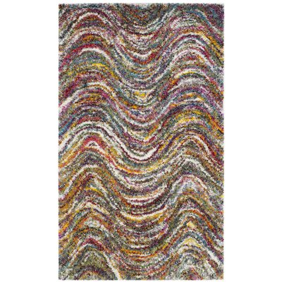 Gleno Red Area Rug Rug Size: 4 x 6