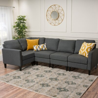 Buffum Modular Sectional Upholstery : Dark Gray