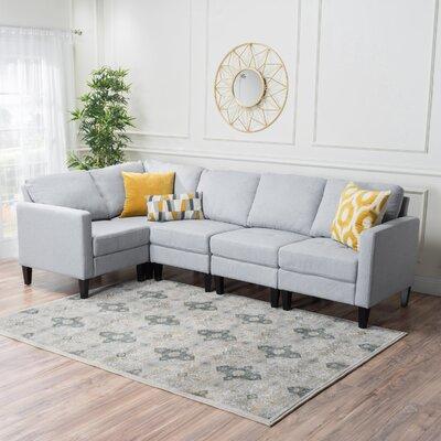 Ellery Modular Sectional Upholstery : Light Gray