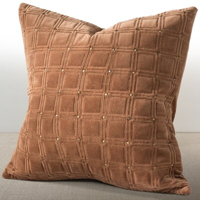 Wessex Luxury Cotton Throw Pillow Color: Cognac