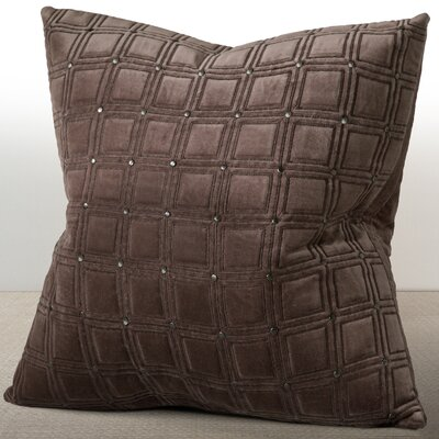 Wessex Luxury Cotton Throw Pillow Color: Espresso