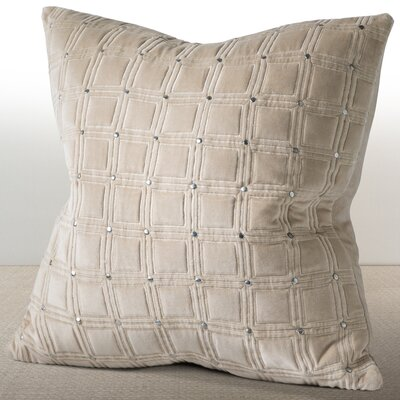 Wessex Luxury Cotton Throw Pillow Color: Sand