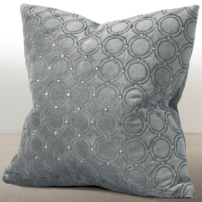 Wessex Luxury Cotton Throw Pillow Color: Mist Gray
