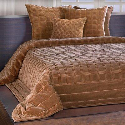 Wessex Quilt Size: King, Color: Cognac