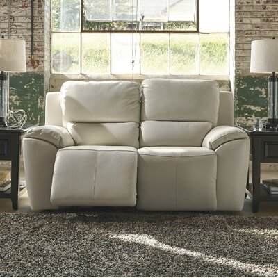 Johnston Reclining Leather Loveseat Type: Power