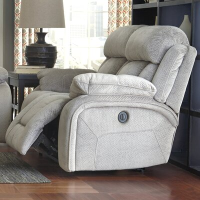 Mellor Reclining Loveseat Type: Power, Upholstery: Pebble
