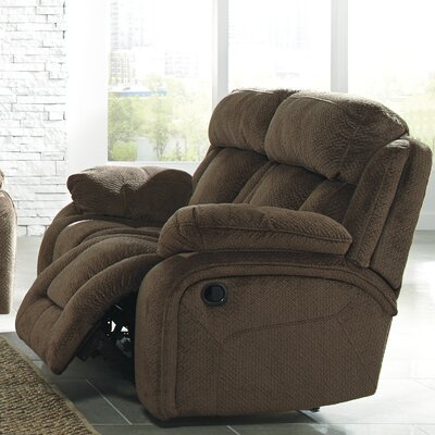 Georgina Reclining Loveseat Type: Power, Upholstery: Chocolate