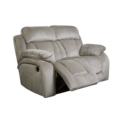 Mellor Reclining Loveseat Type: Manual, Upholstery: Pebble