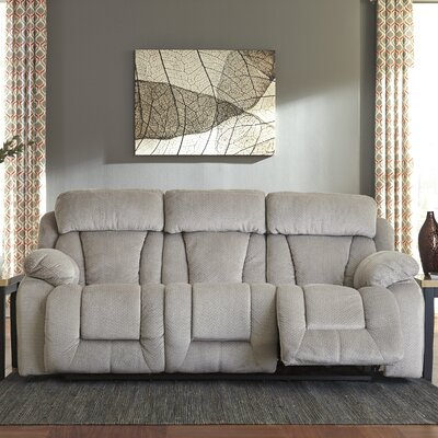 Georgina Reclining Sofa Type: Power, Upholstery: Pebble