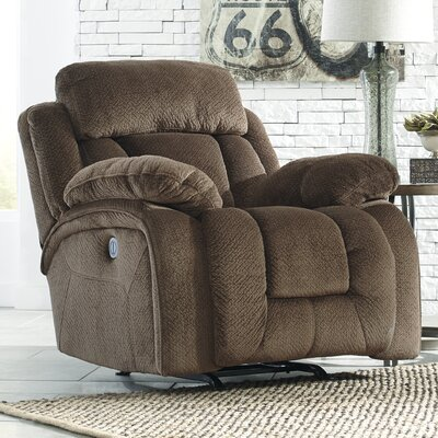 Georgina Rocker Recliner Upholstery: Saddle, Type: Power