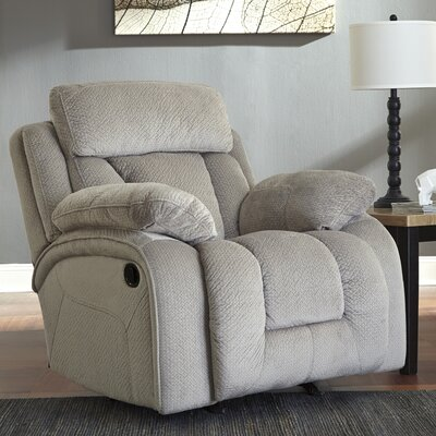Georgina Rocker Recliner Type: Manual, Upholstery: Pebble