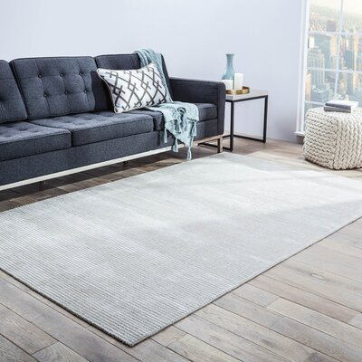Nico Hand Woven Silk Classic Gray Area Rug Rug Size: Rectangle 5 x 8