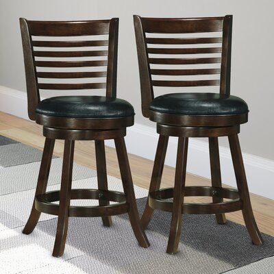 Leakey 24.75 Swivel Bar Stool